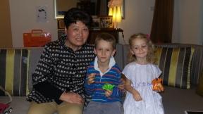 Mrs. Li's first Thanksgiving celebration!